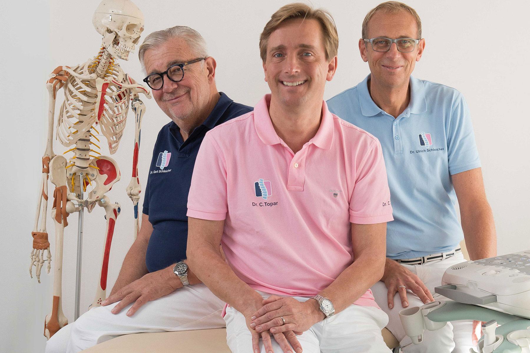 Portrait Dr. Gert und Dr. Ulrich Schleicher und Dr. Christopher Topar